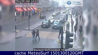 webcam Regent Street Londres