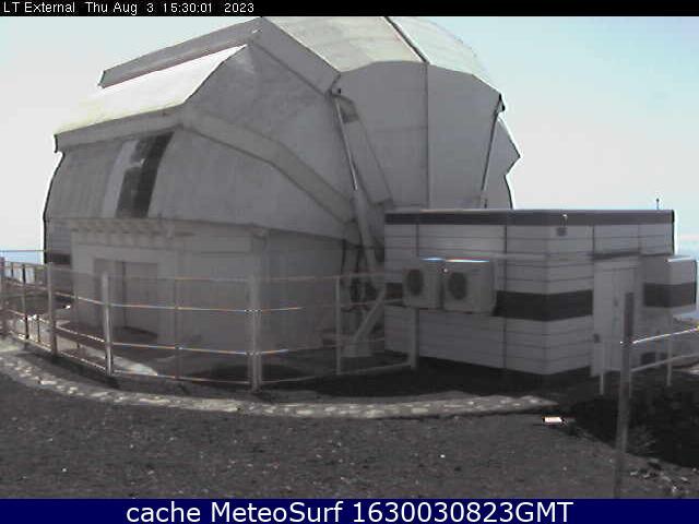 webcam Roque de los Muchachos Observatory Santa Cruz de Tenerife
