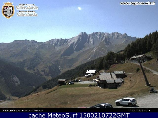 webcam Saint-Rh�my Crevacol Ski Valle d Aosta