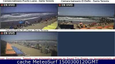 webcam Santa Teresita La Costa