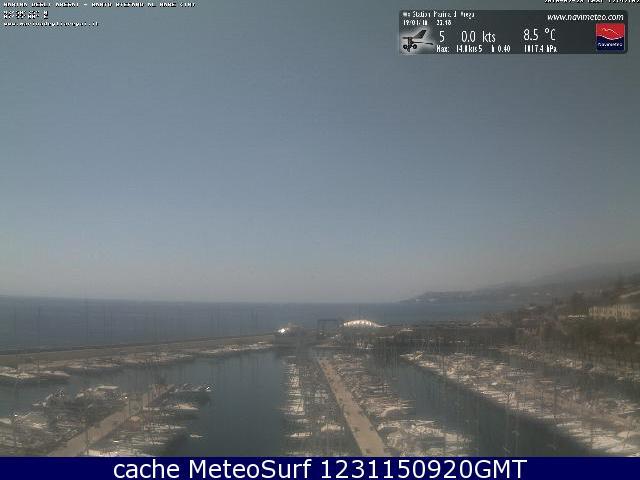 webcam Santo Stefano al Mare Imperia