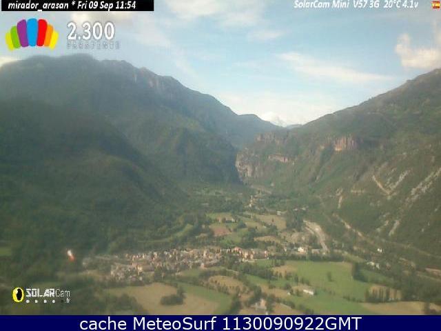 webcam Castejón de Sos Albergue Huesca
