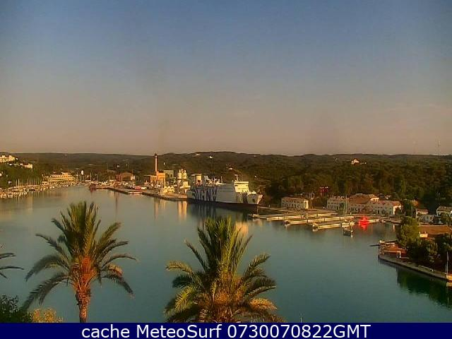 webcam Mahon Islas Baleares