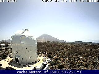 webcam Teide desde Izaña Santa Cruz de Tenerife