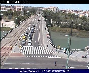 webcam Zuda Zaragoza Ebro Zaragoza