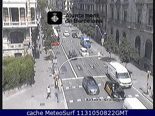 webcam Gran Via Balmes Trafico Barcelona