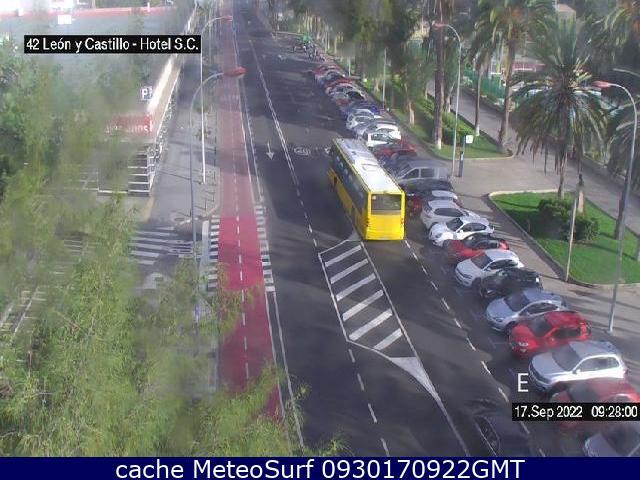 webcam León y Castillo Hotel Las Palmas