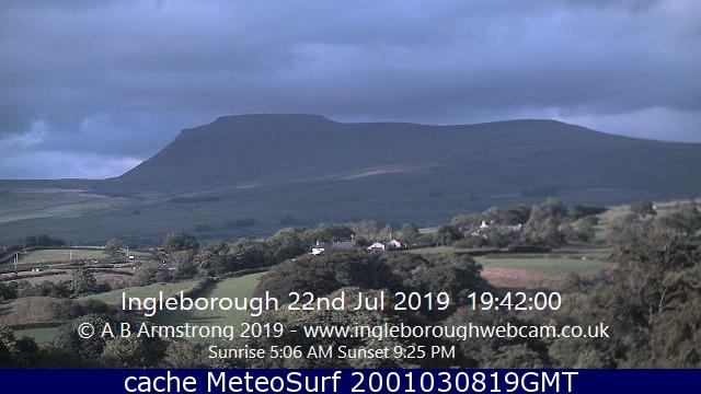 webcam Ingleborough Yorkshire and the Humber