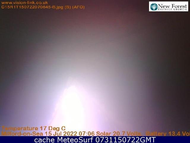 webcam Milford on Sea Hurst South East