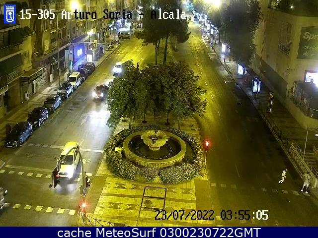 webcam Alcala Arturo Soria Madrid