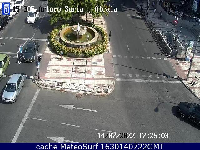 webcam Alcala Arturo Soria Ciudad de Madrid