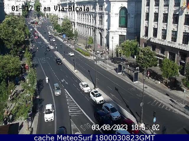 webcam Alcala Gran Via Ciudad de Madrid
