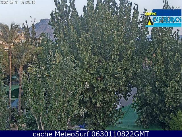 webcam Altea Camping Alicante