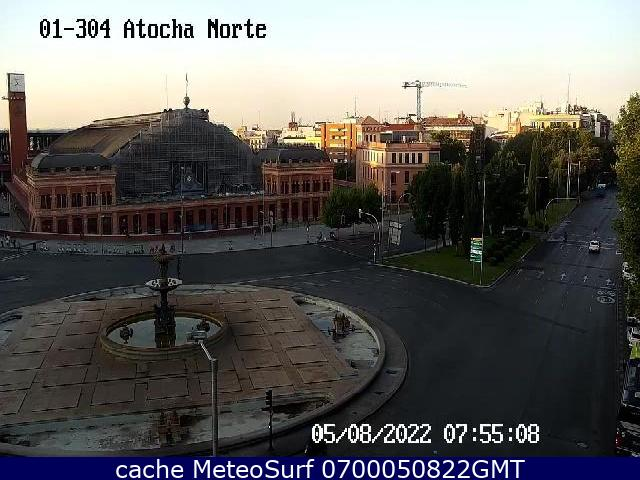 webcam Glorieta Atocha Norte Madrid