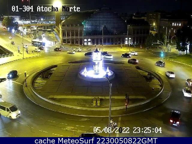 webcam Glorieta Atocha Norte Ciudad de Madrid