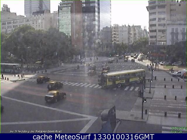 webcam Buenos Aires Av Belgrano y Av 9 de Julio Tigre