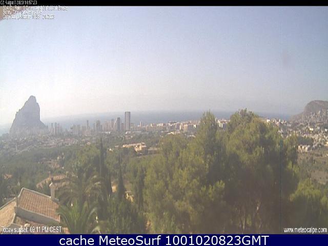webcam Calpe Costa Blanca Alicante