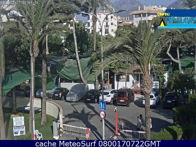 webcam Camping Cap Blanch Alicante