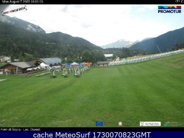 webcam Forni di Sopra Ski Udine