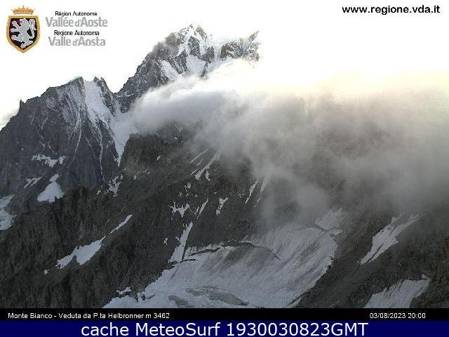 webcam Helbronner Mont Blanc Valle d Aosta