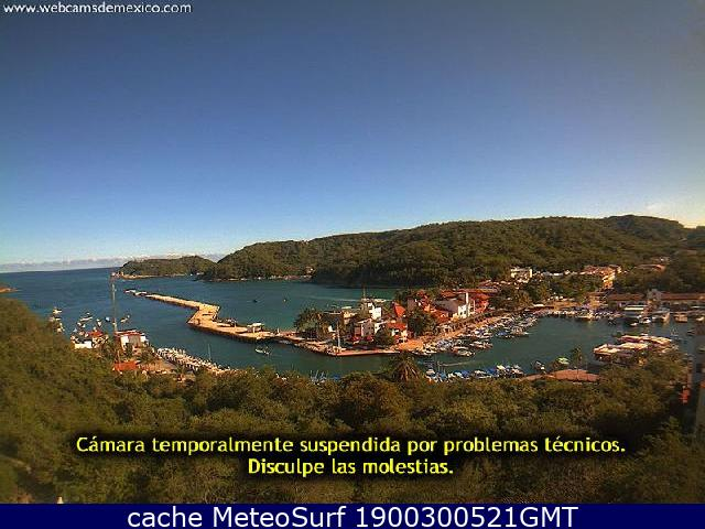 webcam Huatulco Marina Santa Maria de Huatulco