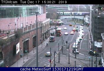 webcam Manchester Train Station North West