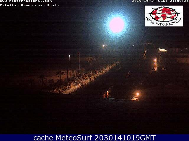 webcam Costa del Maresme Calella Barcelona