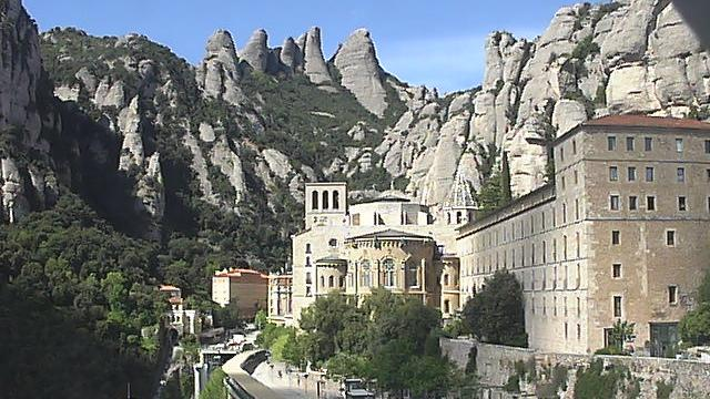 webcam Montserrat Monasterio Barcelona