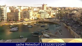 webcam Malta St Julian Hotel Northern Harbour