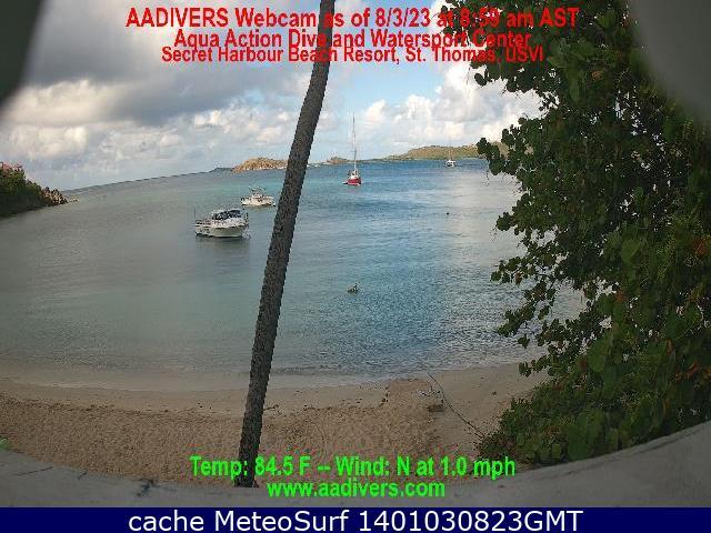 webcam Secret Harbour Beach Islas Virgenes