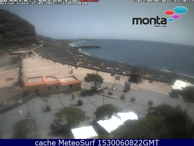 webcam Playa Tazacorte Santa Cruz de Tenerife