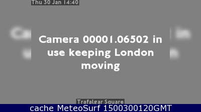 webcam London Trafalgar Square Londres