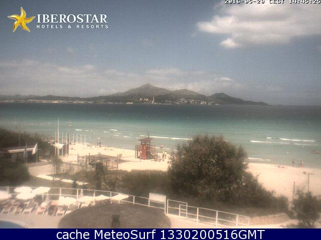 webcam Alcudia Mallorca Playa Muro Islas Baleares