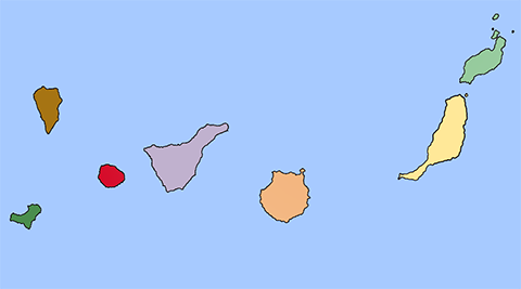 Isole Canarie mappa