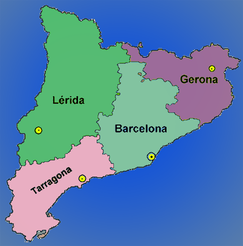 Catalogne carte