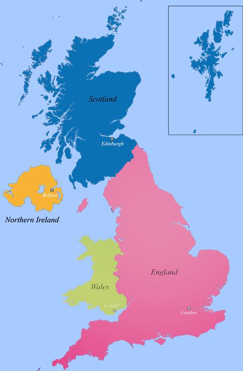 United Kingdom map