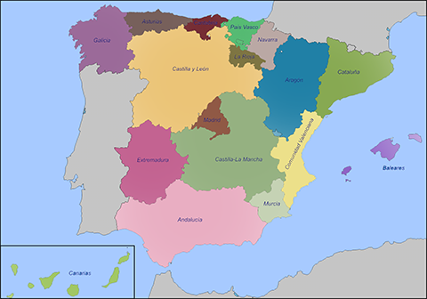 Country Of Spain Map.Webcam Spain Beaches Live Weather Streaming Web Cameras